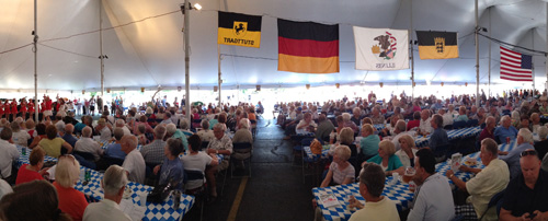Oktoberfest in August, Buffalo Grove, Illinois, Chicago area summer festival.