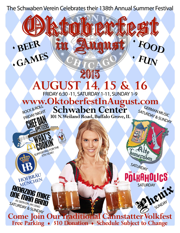 Oktoberfest in August, Buffalo Grove, IL.
