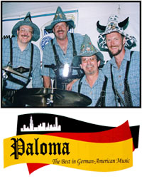 The Paloma band performing German favorites in the tradition of the Oktoberfest held in Germany.